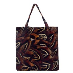 Feathers Bird Black Grocery Tote Bag