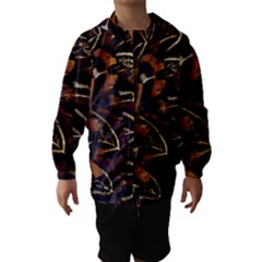Feathers Bird Black Hooded Wind Breaker (Kids)
