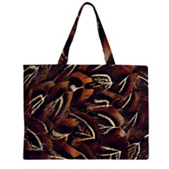 Feathers Bird Black Large Tote Bag