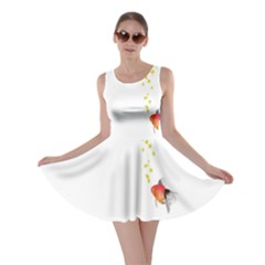 Fish Underwater Yellow White Skater Dress
