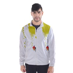 Fish Underwater Yellow White Wind Breaker (Men)