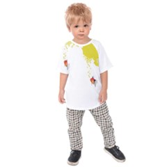 Fish Underwater Yellow White Kids  Raglan Tee
