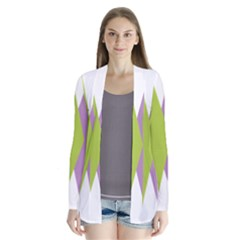 Chevron Wave Triangle Plaid Blue Green Purple Orange Rainbow Cardigans
