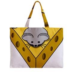 Cheese Mose Yellow Grey Mini Tote Bag