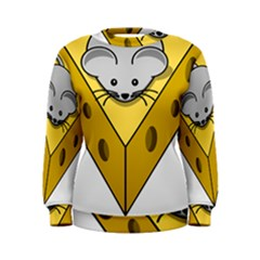 Cheese Mose Yellow Grey Women s Sweatshirt