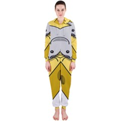 Cheese Mose Yellow Grey Hooded Jumpsuit (Ladies)