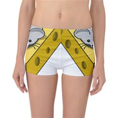 Cheese Mose Yellow Grey Reversible Bikini Bottoms