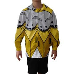 Cheese Mose Yellow Grey Hooded Wind Breaker (Kids)
