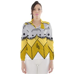 Cheese Mose Yellow Grey Wind Breaker (Women)