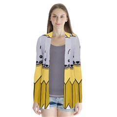 Cheese Mose Yellow Grey Cardigans