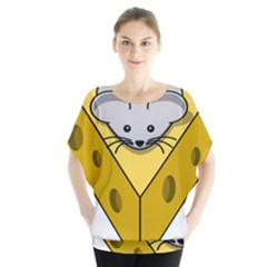 Cheese Mose Yellow Grey Blouse