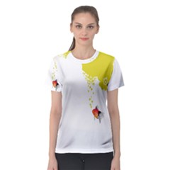 Fish Underwater Yellow White Women s Sport Mesh Tee