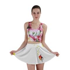 Fish Underwater Yellow White Mini Skirt