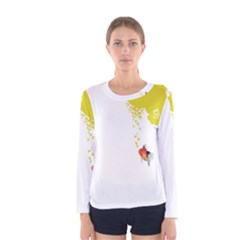 Fish Underwater Yellow White Women s Long Sleeve Tee