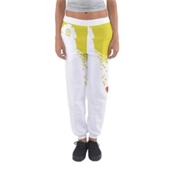 Fish Underwater Yellow White Women s Jogger Sweatpants