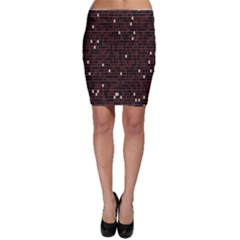 Cubes Small Background Bodycon Skirt