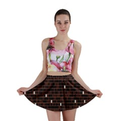 Cubes Small Background Mini Skirt