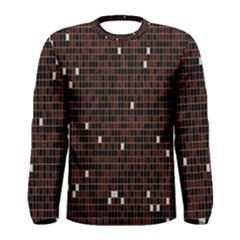 Cubes Small Background Men s Long Sleeve Tee