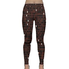Cubes Small Background Classic Yoga Leggings