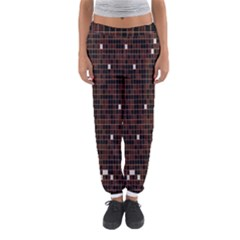 Cubes Small Background Women s Jogger Sweatpants