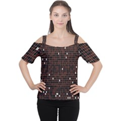 Cubes Small Background Women s Cutout Shoulder Tee