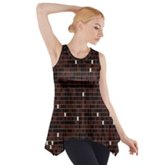 Cubes Small Background Side Drop Tank Tunic