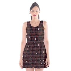 Cubes Small Background Scoop Neck Skater Dress