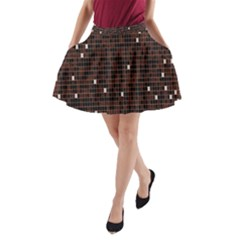 Cubes Small Background A-Line Pocket Skirt