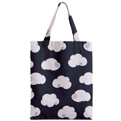 Cloud White Gray Sky Zipper Classic Tote Bag