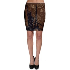Coffe Break Cake Brown Sweet Original Bodycon Skirt