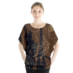 Coffe Break Cake Brown Sweet Original Blouse