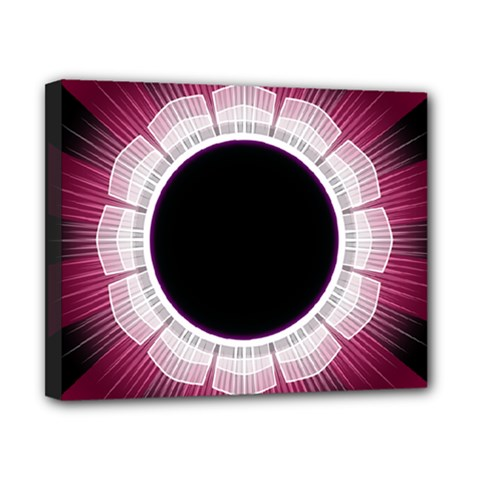 Circle Border Hole Black Red White Space Canvas 10  x 8
