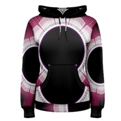 Circle Border Hole Black Red White Space Women s Pullover Hoodie