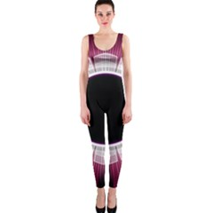 Circle Border Hole Black Red White Space Onepiece Catsuit
