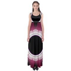 Circle Border Hole Black Red White Space Empire Waist Maxi Dress