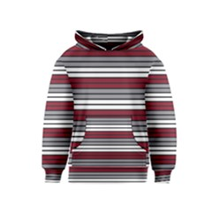 Fabric Line Red Grey White Wave Kids  Pullover Hoodie