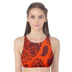 Enlarge Orange Purple Tank Bikini Top