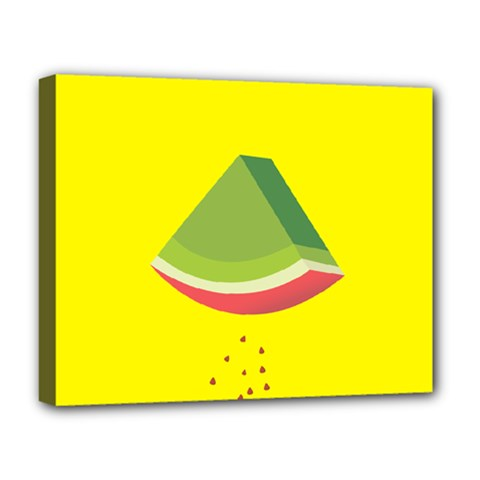 Fruit Melon Sweet Yellow Green White Red Deluxe Canvas 20  X 16