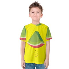 Fruit Melon Sweet Yellow Green White Red Kids  Cotton Tee