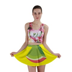 Fruit Melon Sweet Yellow Green White Red Mini Skirt