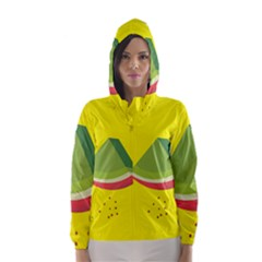 Fruit Melon Sweet Yellow Green White Red Hooded Wind Breaker (women)