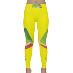 Fruit Melon Sweet Yellow Green White Red Classic Yoga Leggings
