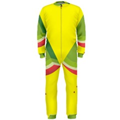 Fruit Melon Sweet Yellow Green White Red OnePiece Jumpsuit (Men)