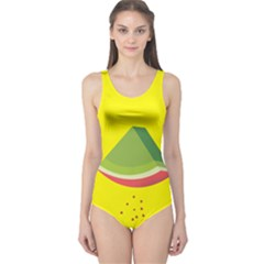 Fruit Melon Sweet Yellow Green White Red One Piece Swimsuit