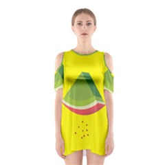 Fruit Melon Sweet Yellow Green White Red Shoulder Cutout One Piece