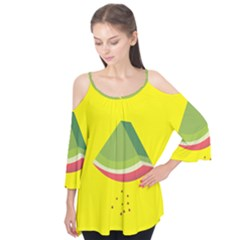 Fruit Melon Sweet Yellow Green White Red Flutter Tees