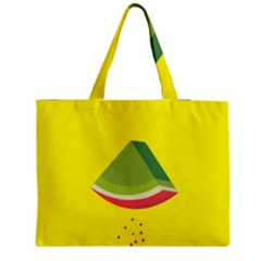 Fruit Melon Sweet Yellow Green White Red Medium Zipper Tote Bag