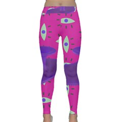 Eye Purple Pink Classic Yoga Leggings