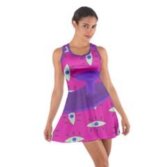 Eye Purple Pink Cotton Racerback Dress