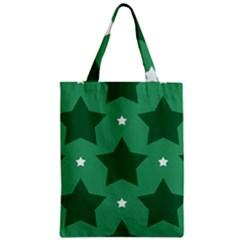 Green White Star Classic Tote Bag